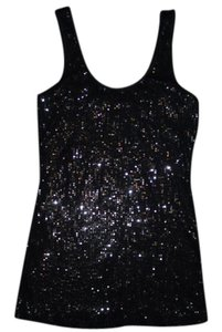 Express Sequins Bling Sparkle Top Black