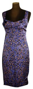 Zac Posen Print Silk Sleeveless Dress