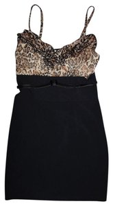 Ruby Rox short dress Black Leopard Animal Print Sexy High Waist Belt Tank Top Formal Party Club on Tradesy