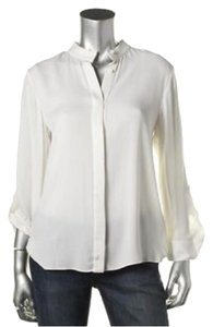 Alice + Olivia Button Down Shirt White
