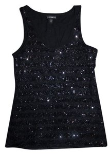 Express Sequin Bling Sparkle Top Black
