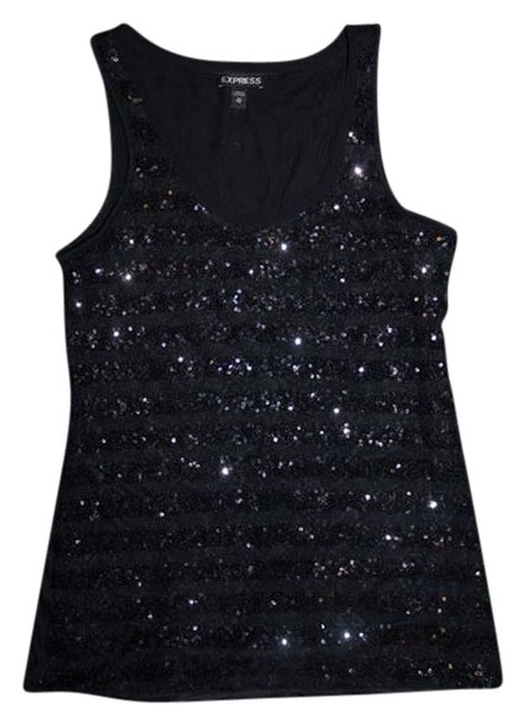 Preload https://item5.tradesy.com/images/express-sequin-bling-sparkle-top-black-948664-0-0.jpg?width=400&height=650