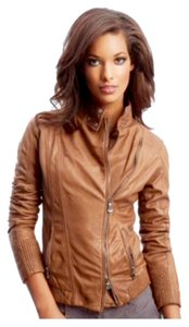 Guess By Marciano Leather Lamb Leather brown Leather Jacket