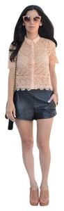 Willow & Clay Leather Pleather Mini/Short Shorts Black