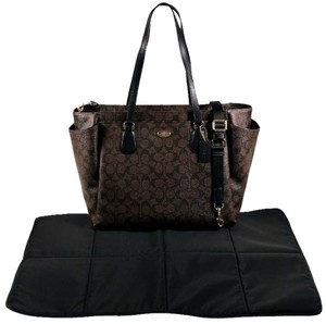 Coach Black and Brown Diaper Bag