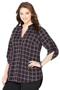 Avenue Top berry plaid