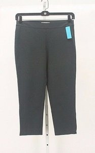 Eileen Fisher Pm X Dark Grey Zipper Detail Capri B229 Capri/Cropped Pants
