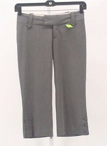 Mossimo Supply Co. X 21 Charcoal Accent Dressy Capri B229 Capri/Cropped Pants