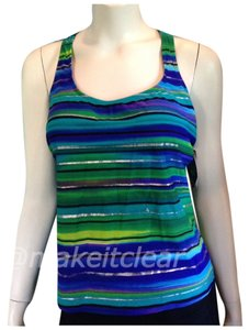 Beach Diva NEW BEACH DIVA tankini swim top racerback green 14
