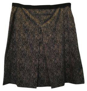 Ann Taylor Mini Skirt Grey/black