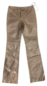 Alexander McQueen Leather Cowboy Boot Cut Boot Cut Pants Dark brown