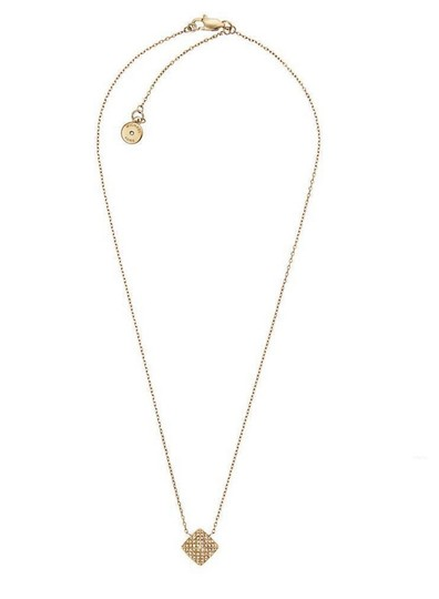 Michael Kors 2 Piece SET**Crystal Pyramid Necklace & Pave Twist Hoops
