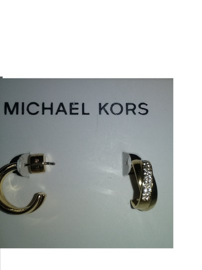 Michael Kors 2 Piece SET* Pyramid Necklace & Twist Hoops