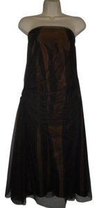 Vera Wang Sleeveless A-line Long Prom Net Overlay Dress