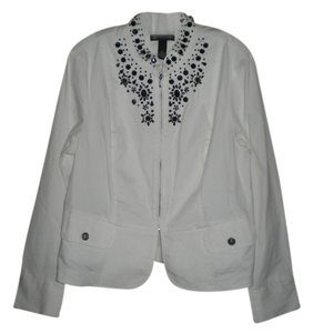 INC International Concepts White Jacket