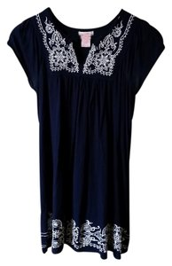 One Clothing Casual Cotton Navy Tunic