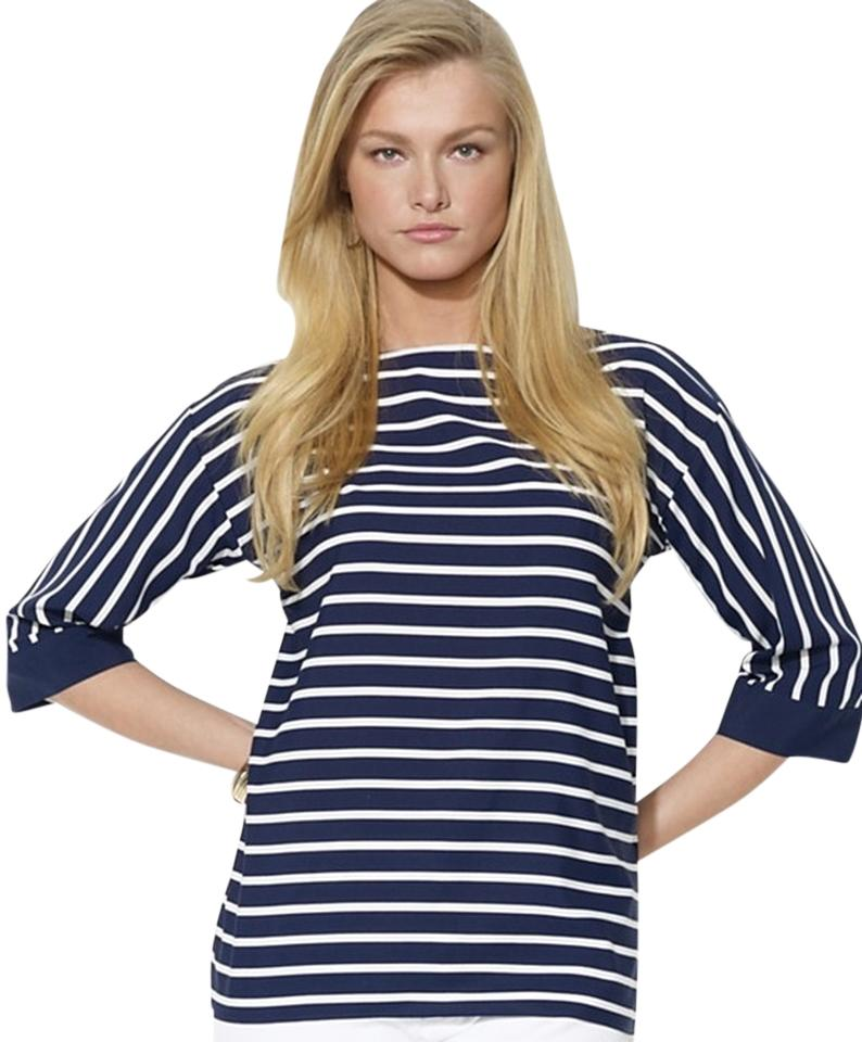 Ralph Lauren Price Reduced Navy And White Polished