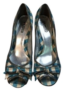 Unlisted by Kenneth Cole Heels Blue Plaid Pumps