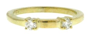 14k yellow gold 1/6 ct tw diamond engagement wedding band ring