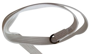 White fabric belt