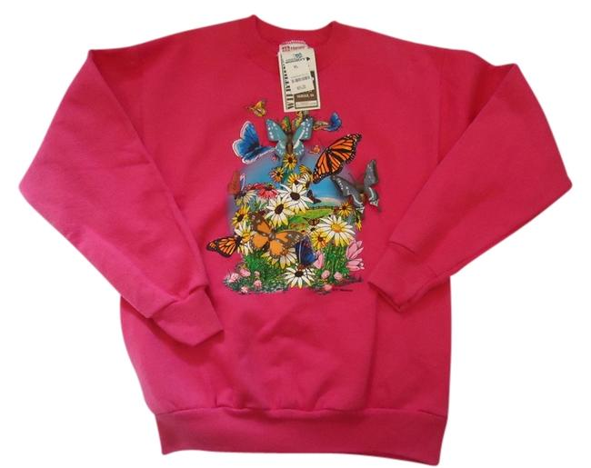 Preload https://img-static.tradesy.com/item/949364/bright-pink-3-d-butterfly-sweatshirthoodie-size-0-xs-0-0-650-650.jpg