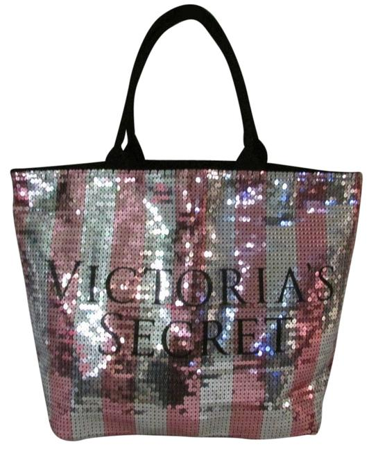 Item - Tote Limited Edition Black Friday Pink and Silver Sequin Weekend/Travel Bag
