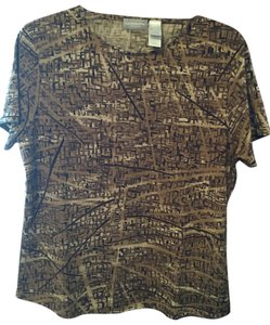 Liz Claiborne Polyester Top Multi Brown