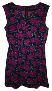 Forever 21 short dress Black Floral Pink on Tradesy