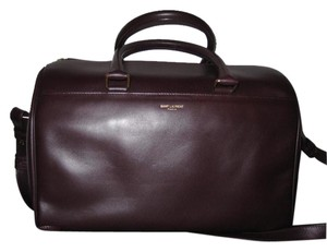 Saint Laurent Duffle 6 Hour Top Handle Satchel in Maroon