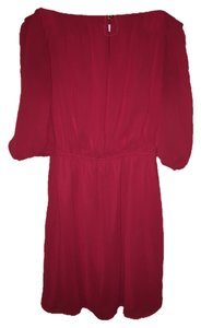 Alya short dress Red Off Shoulder Button on Tradesy
