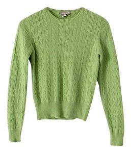 kinross Cashmere Cable Knit Crew Neck Sweater