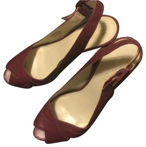 Nine West Burgandy Sandals