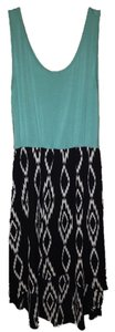 Blue Maxi Dress by MM Couture High-low Aztec Skirt Flowy Black White Cute Tank