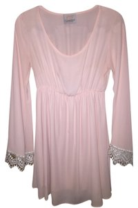 Coveted Clothing short dress Pink Lace Bell Sleeve Flared on Tradesy