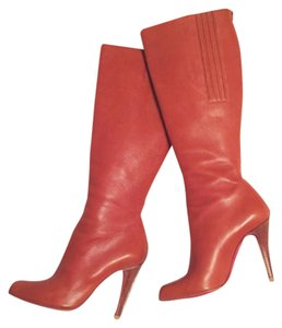 Christian Louboutin Knee High Chestnut Boots