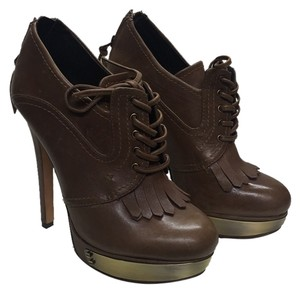 House of Harlow 1960 Brown Leather Platforms