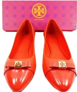 Tory Burch Hugo Reva Orange Flats
