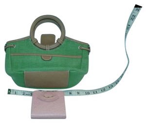 Fossil Genuine Leather Pair Vintage Satchel in Green