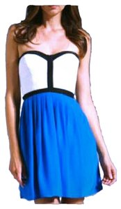 Parker short dress Blue, White Mini Date Night Hot on Tradesy