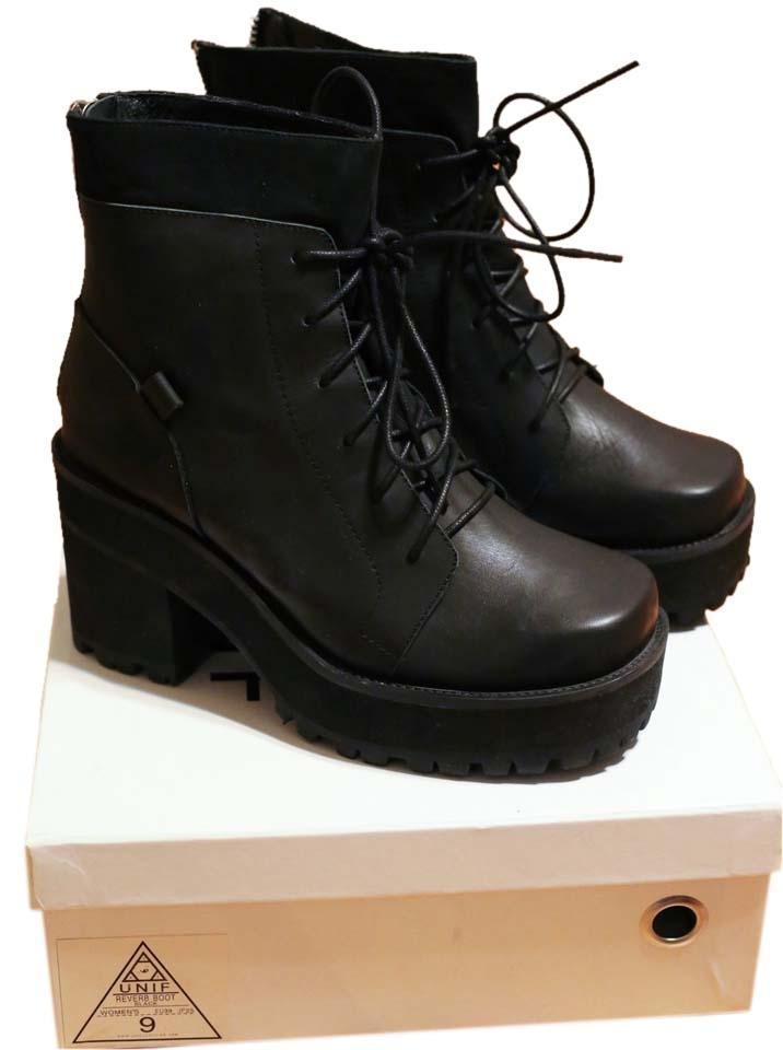 woman New UNIF Black Reverb Boots/Booties New woman design f462a0