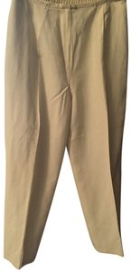 Style & Co Silk Fully Lined Linen Polyester Relaxed Pants Cream