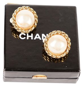 Chanel Chanel Domed Faux-Pearl Earrings