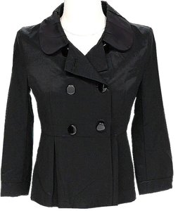 French Connection Double Breasted Black Jacket