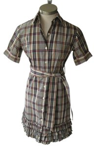 Bell by Alicia Bell short dress pink, gray, green & cream plaid on Tradesy