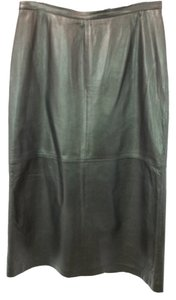 Ellen Tracy Leather Maxi Skirt BLACK