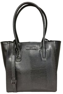 DKNY Leather Donna Karan Tote in Gunmetal