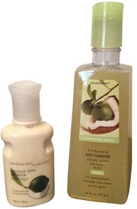 Bath and Body Works Soap and Lotion - (Set of 2) Coconut Lime Verbena Hand Soap and Lotion