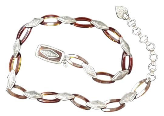 Other Heart Silver Chain Belt