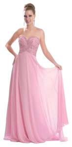 2Cute Strapless Beaded Chiffon Dress