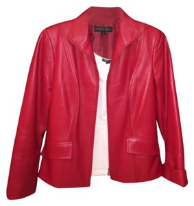 Lafayette 148 New York Red Leather Jacket